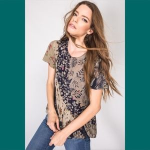 Flower Pattern Flowy Top *APRILSPIRIT* NEW!